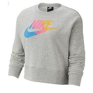 NWT Nike | Cross Stitched Logo Cropped Sweater